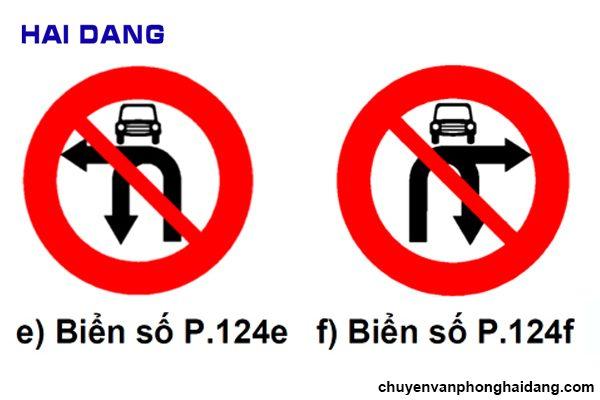 Biển cấm rẽ trái và cấm rẽ phải